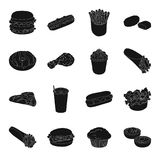 Meal,celebration, cafe, and other web icon in black style.Hamburger, bun, cutlet, icons in set collection. Meal,celebration, cafe, and other  icon in black Stock Photography