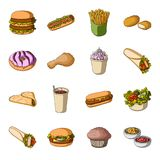 Meal,celebration, cafe, and other web icon in cartoon style.Hamburger, bun, cutlet, icons in set collection. Meal,celebration, cafe, and other  icon in cartoon Stock Photos