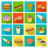 Meal,celebration, cafe, and other web icon in flat style.Hamburger, bun, cutlet, icons in set collection. Meal,celebration, cafe, and other  icon in flat style Royalty Free Stock Image
