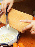 Meal cutting Stock Photography