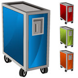 Meal Delivery Cart Set Stock Images