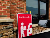 Meal Delivery Zone at Chick-fil-a restaurant royalty free stock photos