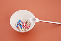 A meal of different tablets Royalty Free Stock Photography