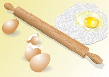 Meal and eggs Royalty Free Stock Image