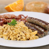 Meal with eggs, sausages and bacon Royalty Free Stock Images
