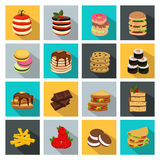 Meal Icon Set Stock Images
