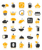 Meal icons Royalty Free Stock Images