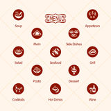 Meal icons Stock Photo