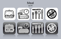 Meal icons Stock Photos