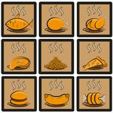 Meal icons set Stock Images