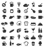 Meal icons6 Royalty Free Stock Photography