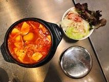 Korean soups salad royalty free stock photos