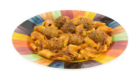 Meal of pasta with meatballs Stock Photo