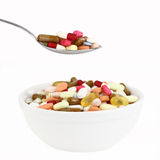 Meal of pills Stock Photos