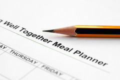 Meal  planner Royalty Free Stock Photography