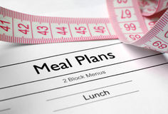 Meal plans Stock Images