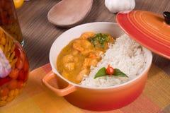 Meal of Shrimp Bobo Stock Images