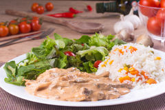 Meal of Stroganoff Beef Royalty Free Stock Photo