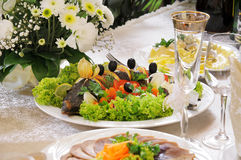Meal on a table. Stock Image