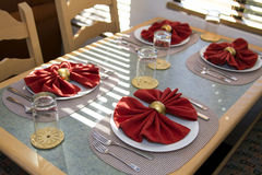 Meal Table Place Setting Stock Photography