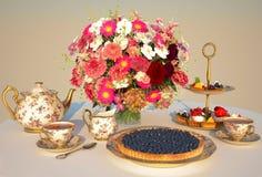 Meal, tea, pie, Cakes. Royalty Free Stock Photos