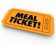 Meal Ticket Free Paying Service Support Winning Restauraunt Eati Royalty Free Stock Photography
