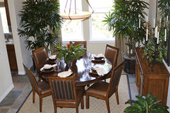 Meal Time. A dining area in a Californian house Stock Images