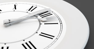 Meal time clock royalty free stock photo