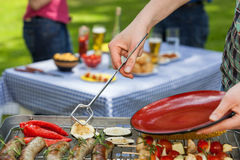 Meal time. Freshly grilled food ready to be served for dinner Stock Photo