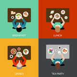 Meal Time Set Royalty Free Stock Photos
