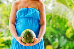 Young woman with watermelon in hands Royalty Free Stock Image