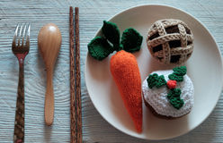 Meal to treat for santa rudolph Stock Image