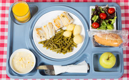 Meal tray of a hospital Stock Photography