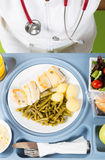 Meal tray of a hospital Royalty Free Stock Image
