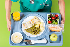 Meal tray of a hospital Royalty Free Stock Photos