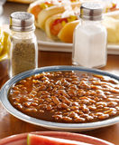 Meal wiith baked beans Stock Photos