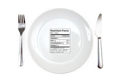 Meal With 0 Calories Royalty Free Stock Photos