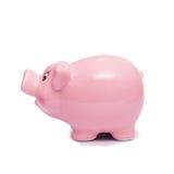 Mealheiro cor-de-rosa askance Imagens de Stock