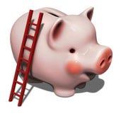 Mealheiro cor-de-rosa enorme Foto de Stock