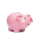 Mealheiro cor-de-rosa para a precaução Imagem de Stock