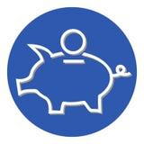 Mealheiro da caixa de dinheiro em um círculo ilustração stock
