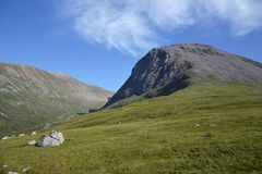 Meall an t-Suidhe, hill on a way to Ben Nevis Stock Photography