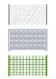 Meallic Netz und konkreter Zaun Stockfotografie