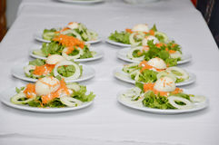 Meals entry. Good input composition before meal during a wedding ceremony Royalty Free Stock Images
