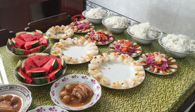Meals at the festival in Saigon, Vietnam Stock Image