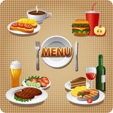 Daily meals menu Stock Images
