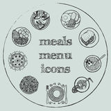 Meals menu elements - icons set 2 Stock Photography