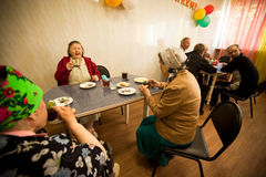 Meals for pensioners and the disabled Stock Images