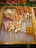 Meals and vegetables grilled with  Sichuan pepper were famously. Seasoning of  Xishuangbanna that famous Street foods in Norths of Thailand Stock Image