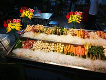 Meals and vegetables grilled with  Sichuan pepper were famously seasoning of  Xishuangba. Food Stock Images